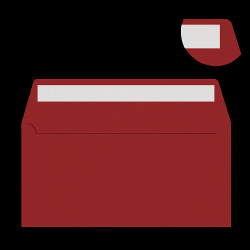 DL Dark Red Peel & Seal Envelopes