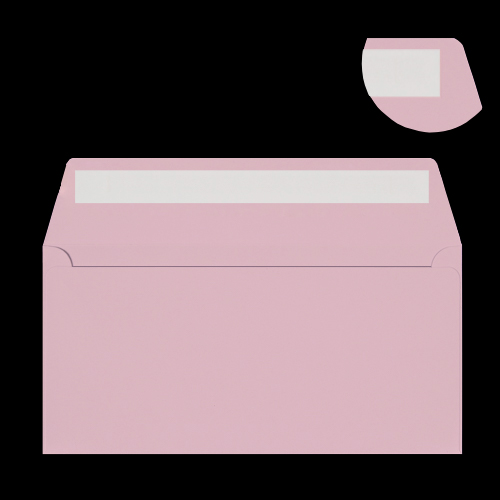 DL Pale Pink Peel & Seal Envelopes