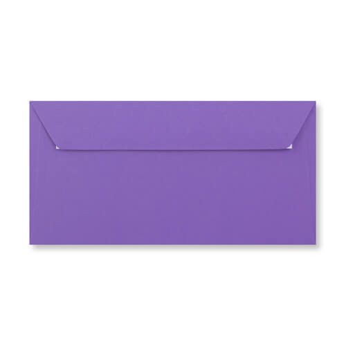 DL Purple Peel & Seal Envelopes