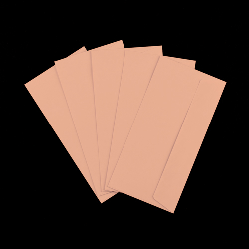 DL Salmon Pink Peel & Seal Envelopes