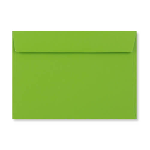 C6 Mid Green Peel & Seal Envelopes