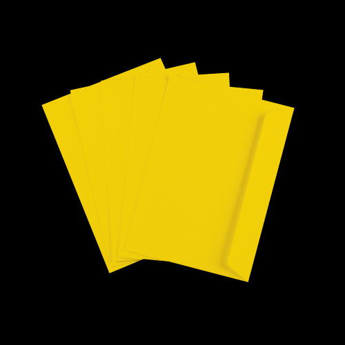 C6 Mid Yellow Peel & Seal Envelopes