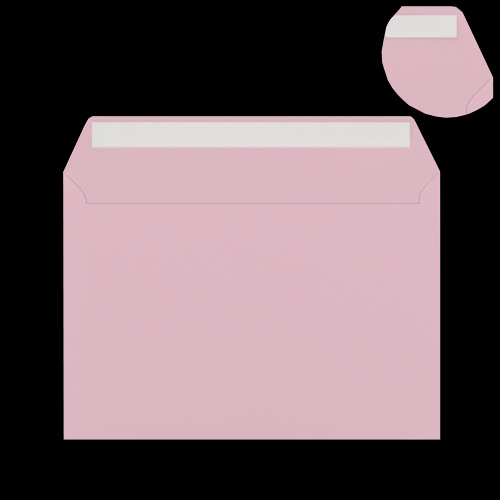 C6 Pale Pink Peel & Seal Envelopes