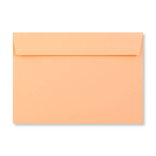 C6 SALMON PINK PEEL AND SEAL ENVELOPES