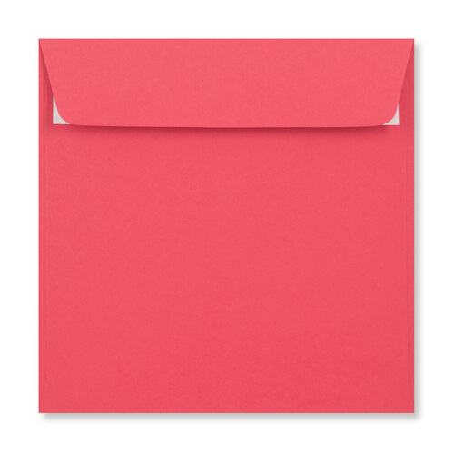 155mm Square Bright Pink Peel & Seal Envelopes