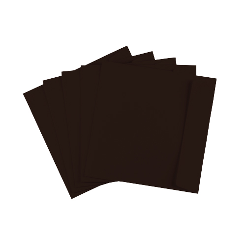 155mm Square Dark Brown Peel & Seal Envelopes