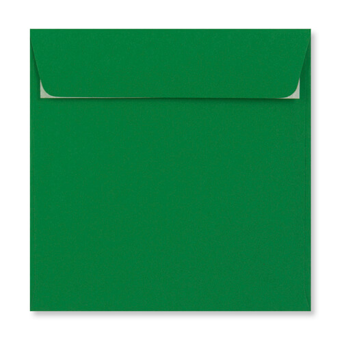 DEEP GREEN 155MM SQUARE PEEL & SEAL ENVELOPES