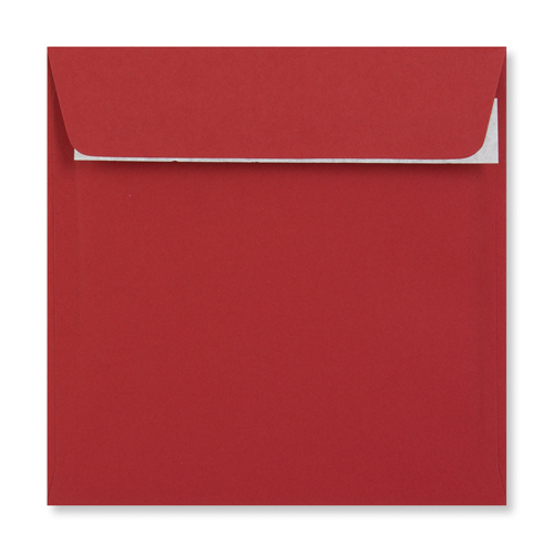 155mm Square Dark Red Peel & Seal Envelopes