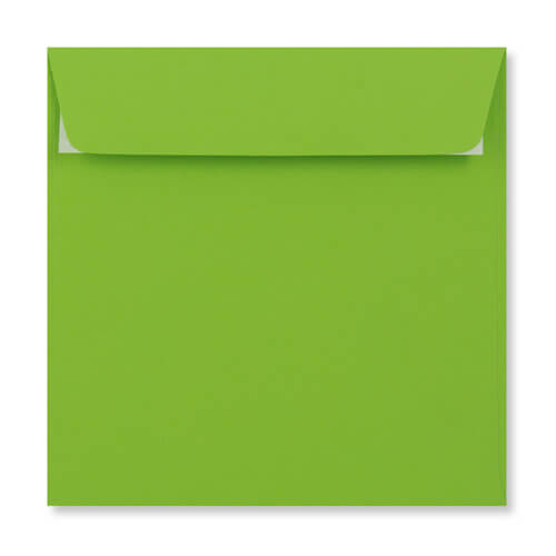 MID GREEN 155MM SQUARE PEEL & SEAL ENVELOPES