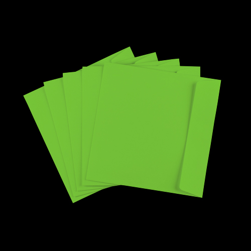 155mm Square Mid Green Peel & Seal Envelopes