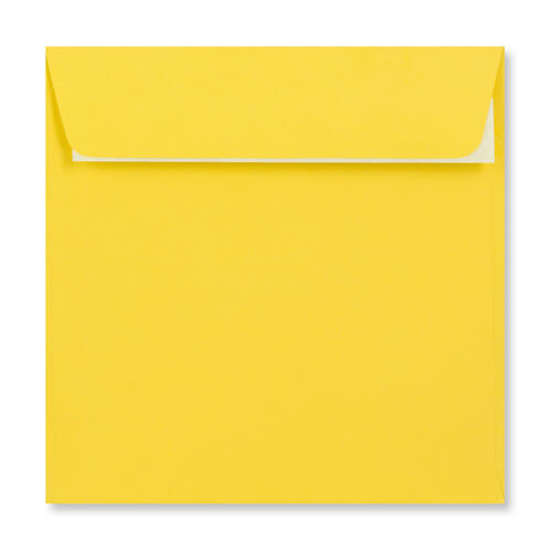 155mm Square Mid Yellow Peel & Seal Envelopes