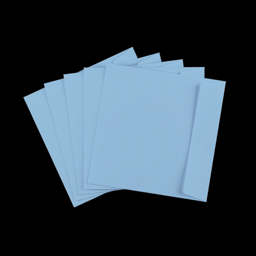 155mm Square Pale Blue Peel & Seal Envelopes