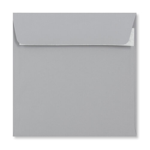 PALE GREY 155MM SQUARE PEEL & SEAL ENVELOPES