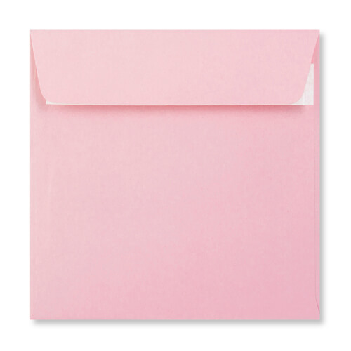 PALE PINK 155MM SQUARE PEEL & SEAL ENVELOPES