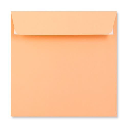 SALMON PINK 155MM SQUARE PEEL & SEAL ENVELOPES