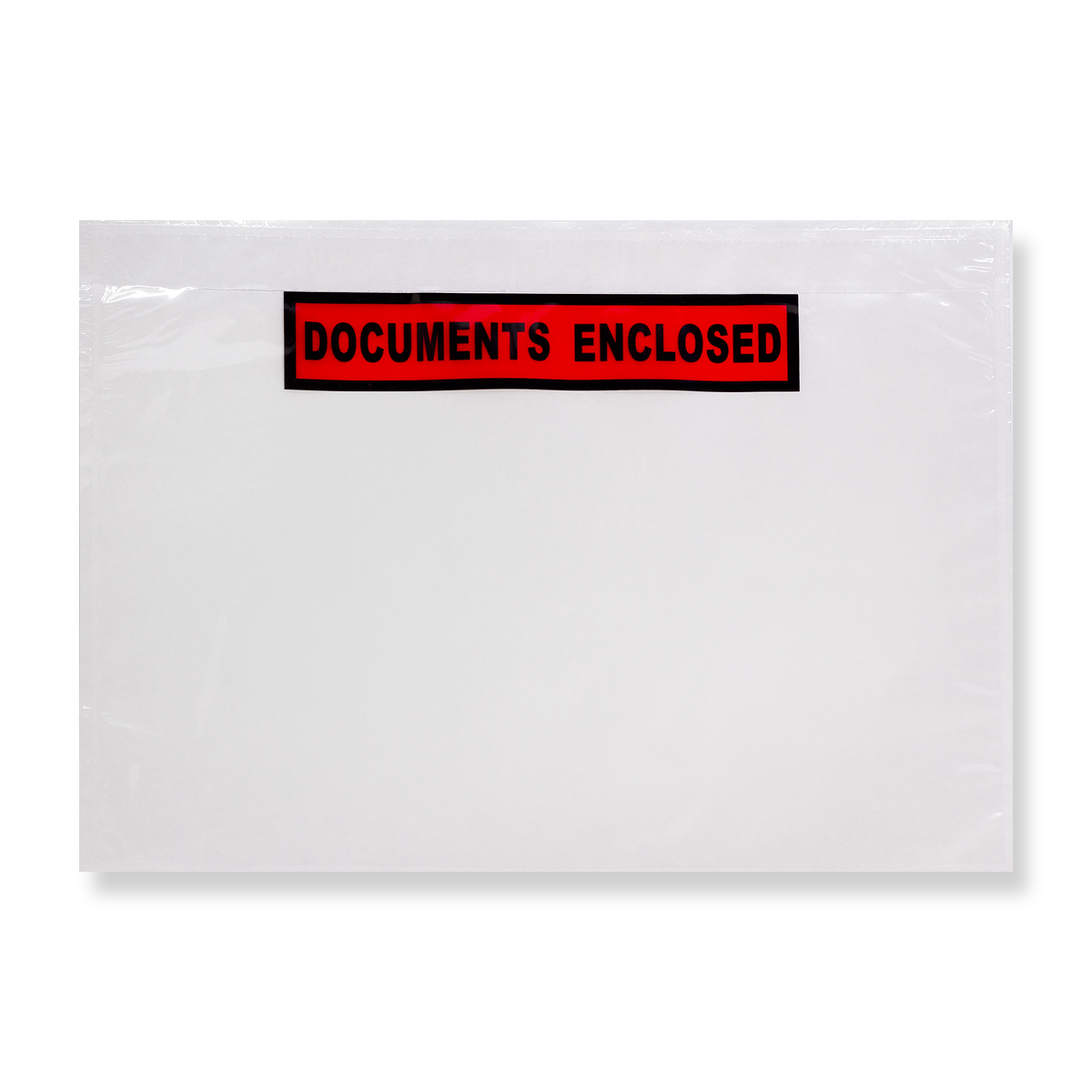 C5 CLEAR DOCUMENTS ENCLOSED WALLETS PRINTED (229 x 162mm)