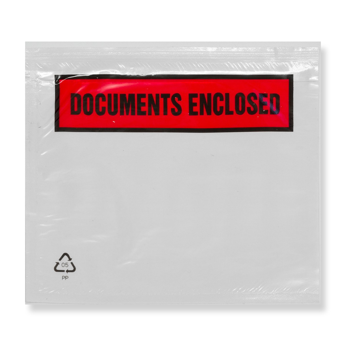C7 CLEAR DOCUMENTS ENCLOSED WALLETS PRINTED (81 x 113mm)