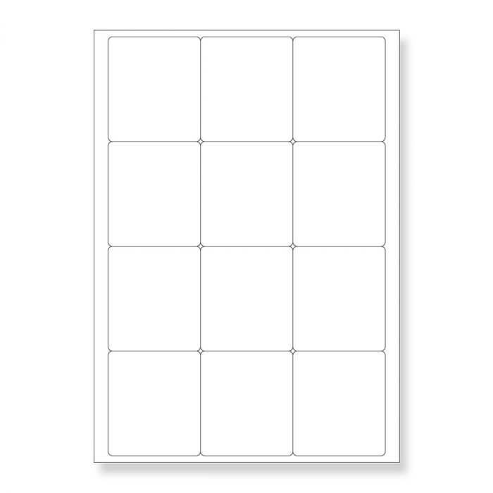 A4 SHEETS OF (63.5 x 72mm) SELF ADHESIVE LABELS