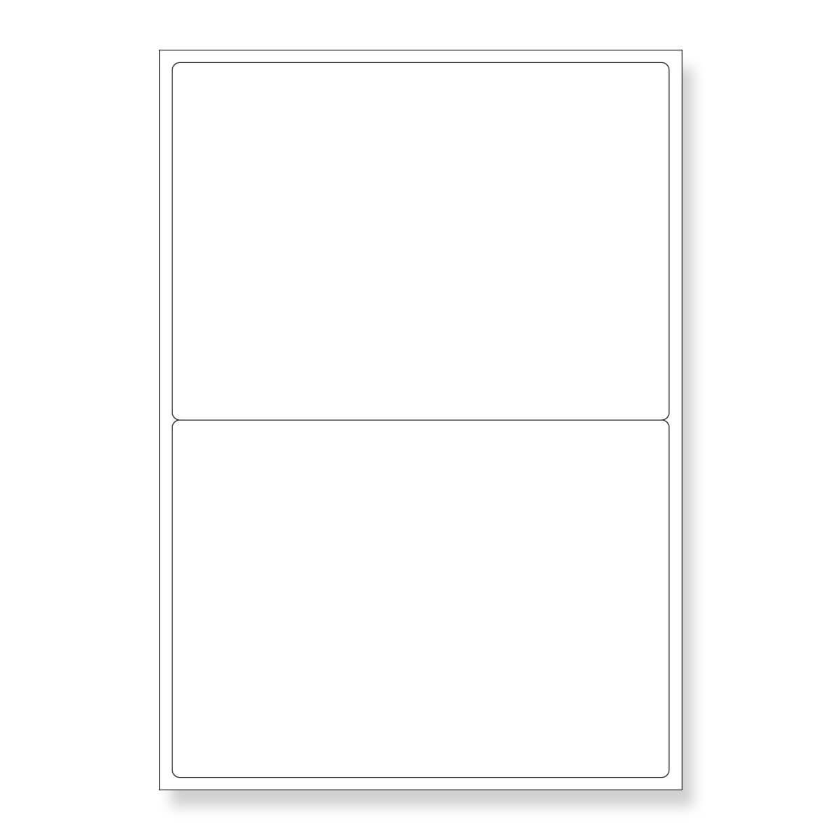 119.6mm x 143.5mm 2UP WHITE ADHESIVE LABELS