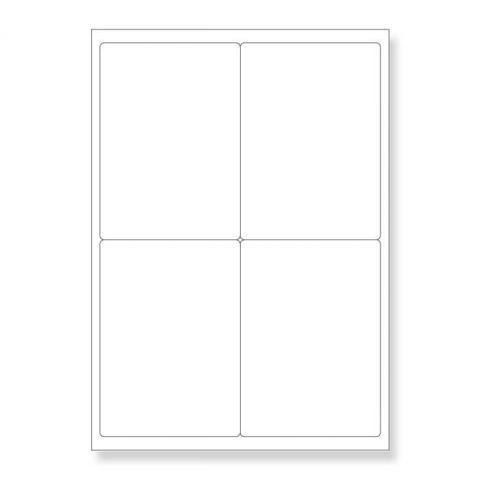 A4 SHEETS OF (105 x 148mm) SELF ADHESIVE LABELS