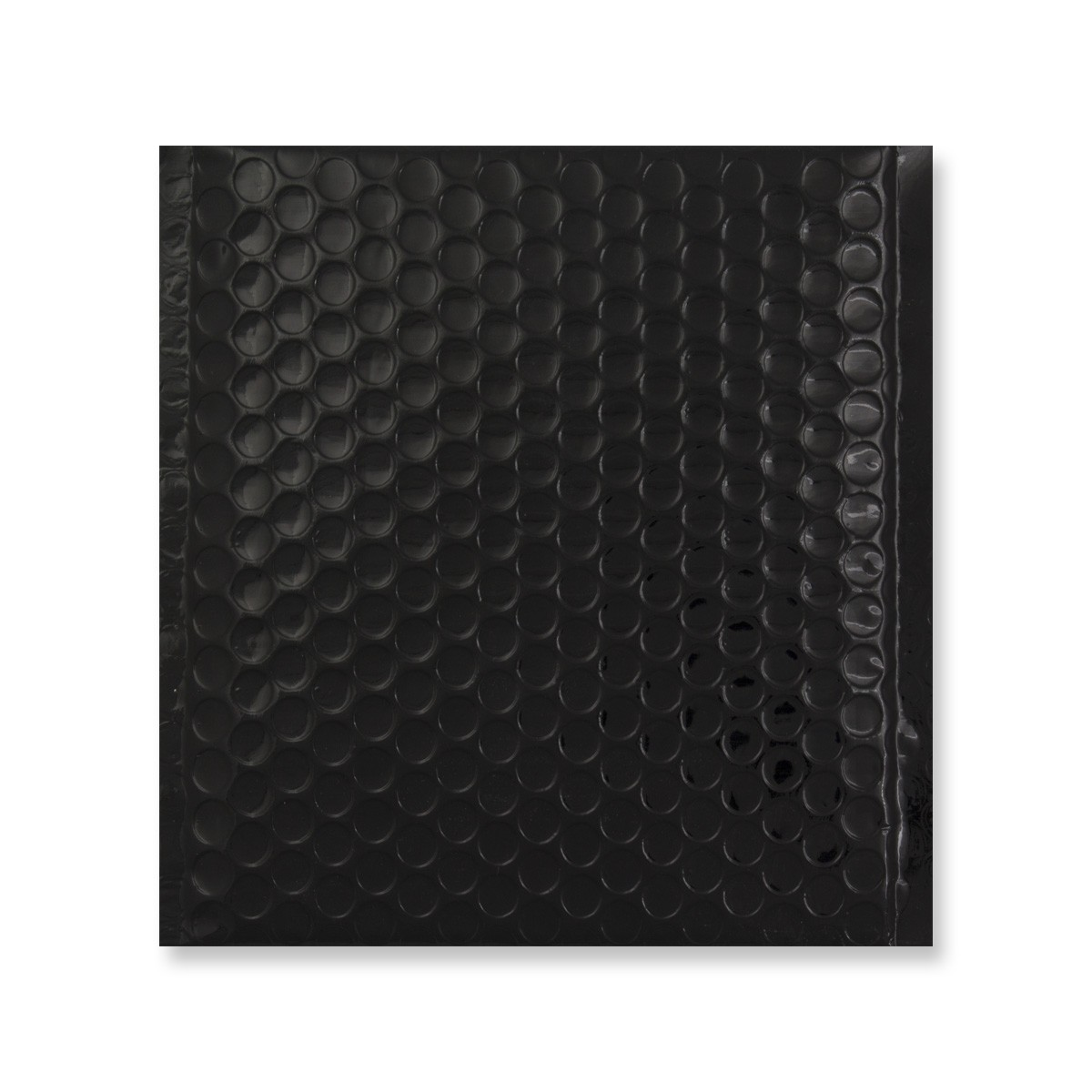 165 x 140mm GLOSS METALLIC BLACK PADDED ENVELOPES