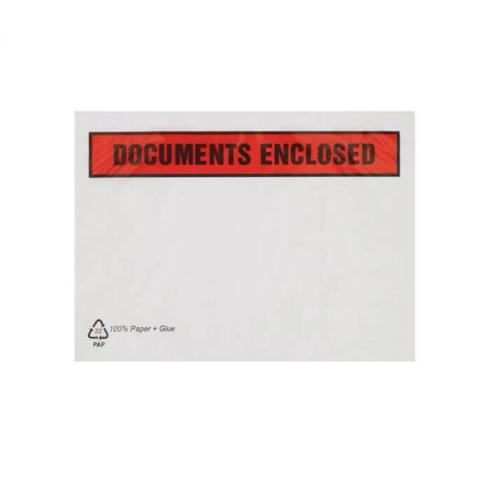 C4 RECYCLABLE PAPER DOCUMENTS ENCLOSED WALLETS PRINTED (229 x 324mm)