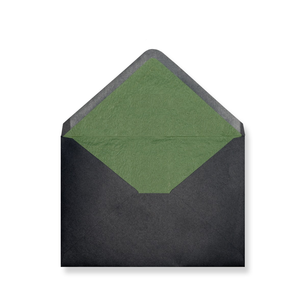 C7 Black Envelopes Lined With Green Paper