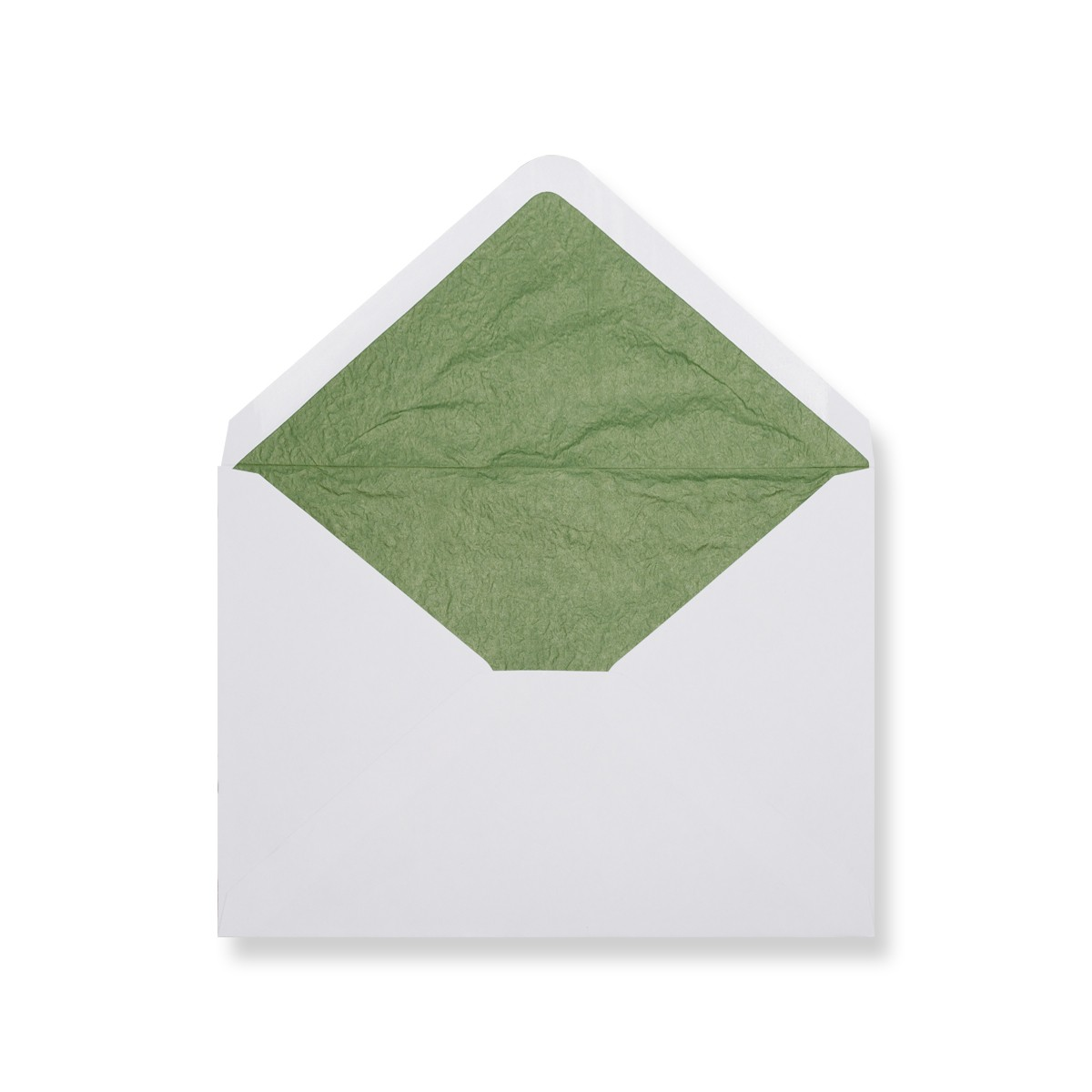 C7 White Envelopes Lined With Green Paper