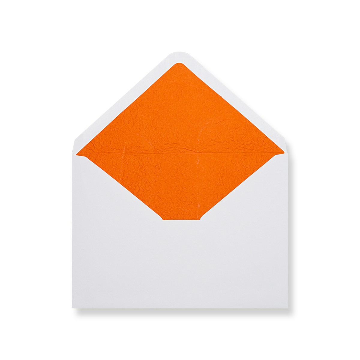 C7 White Envelopes Lined With Orange Paper