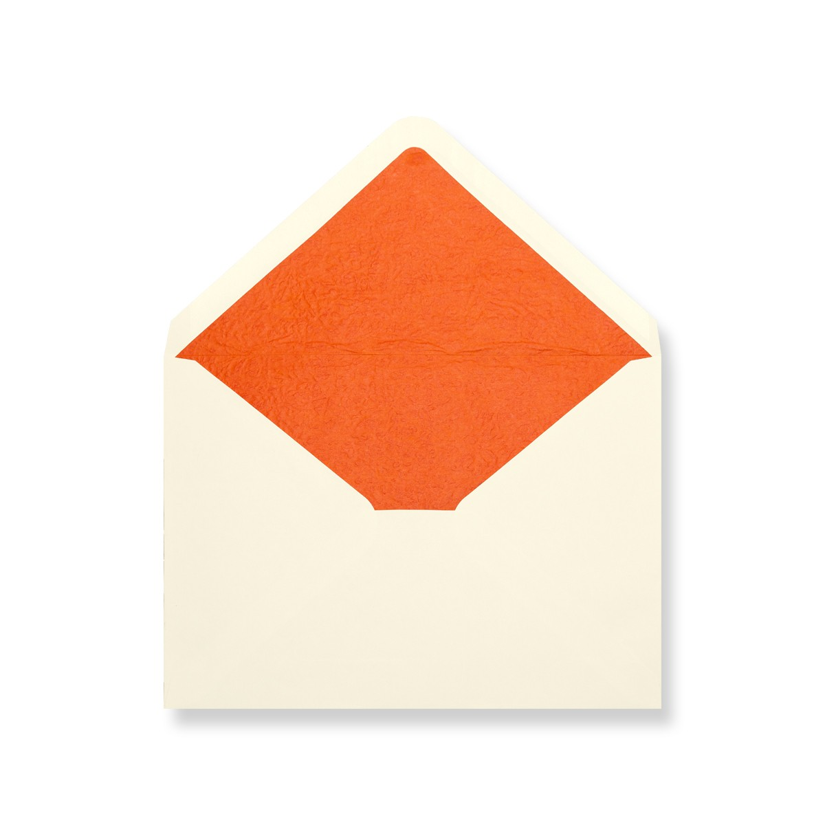 C7 Ivory Envelopes Lined With Orange Paper