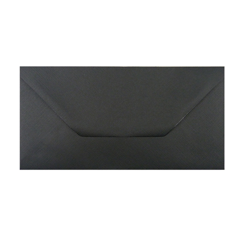 DL Black Embossed Envelopes