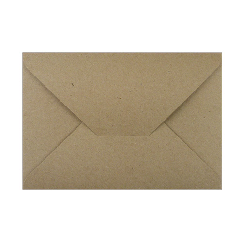 C6 DIE CUT NATURAL KRAFT ENVELOPES