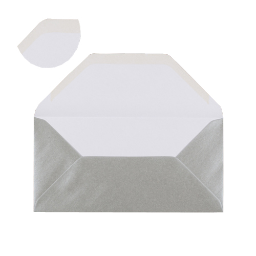 DL METALLIC SILVER ENVELOPES