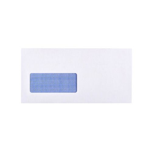 DL WHITE SELF SEAL WALLET WINDOW ENVELOPES 90GSM