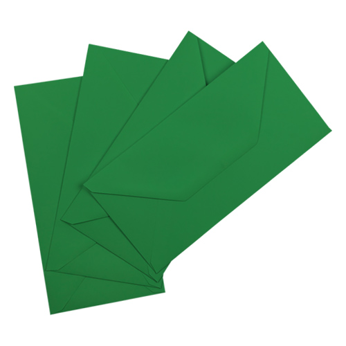 DL XMAS GREEN ENVELOPES