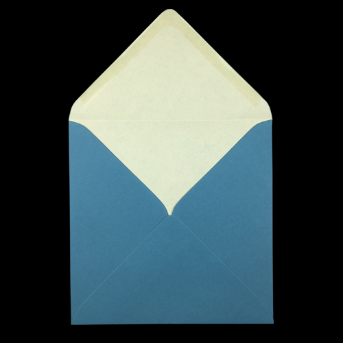 155mm Square Teal Envelopes