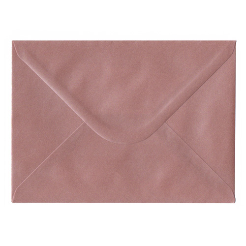 PEARLESCENT ROSE GOLD 133 x 184 mm ENVELOPES (i8)