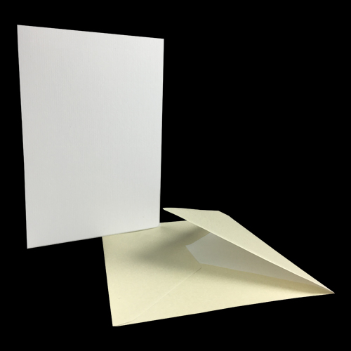 133 x 184mm PEARL IVORY ENVELOPES AND CARD BLANKS (PACK OF 50)