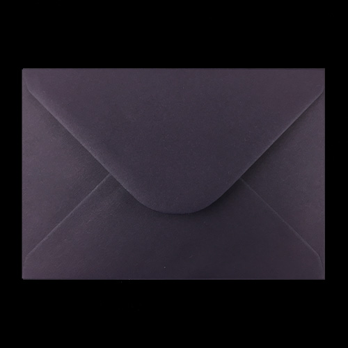 C6 Dark Plum Envelopes Back
