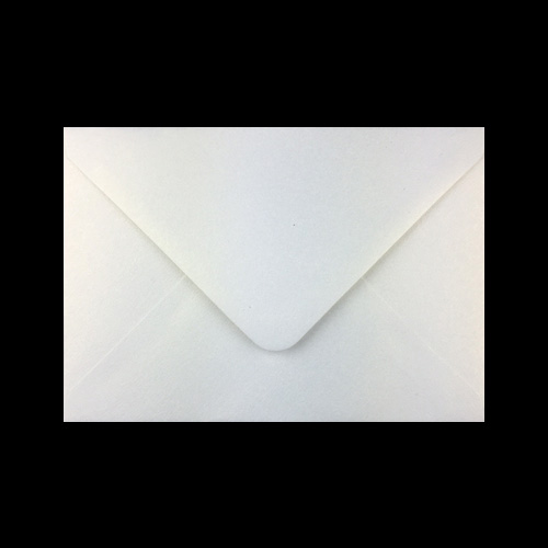 C6 Pearlescent Aspen Ice Silver Envelopes