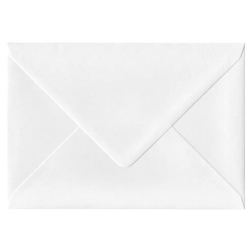 C6 PEARLESCENT NORDIC WHITE ENVELOPES 120GSM