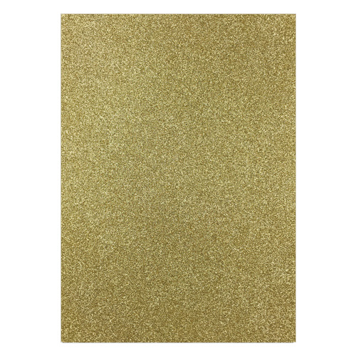 FIXED GLITTER CARD GOLD (PACK OF 2)