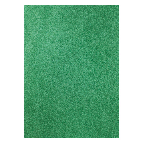 FIXED GLITTER CARD GREEN (PACK OF 2)