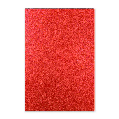 FIXED GLITTER CARD RED (PACK OF 2)