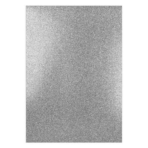FIXED GLITTER CARD SILVER (PACK OF 2)