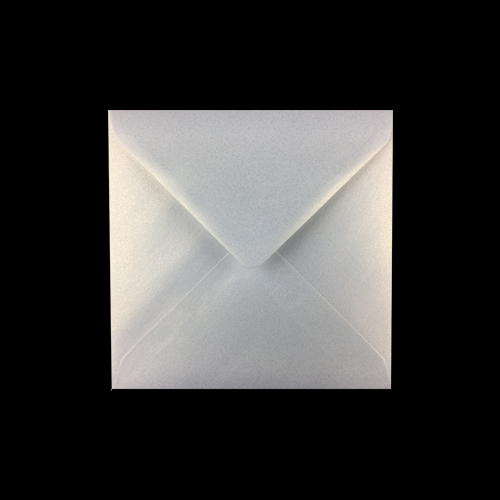 155mm Square Pearlescent Ice Gold Envelopes