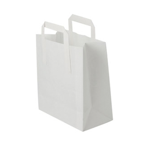 100 SMALL KRAFT CARRIER BAGS (SIZE 1)