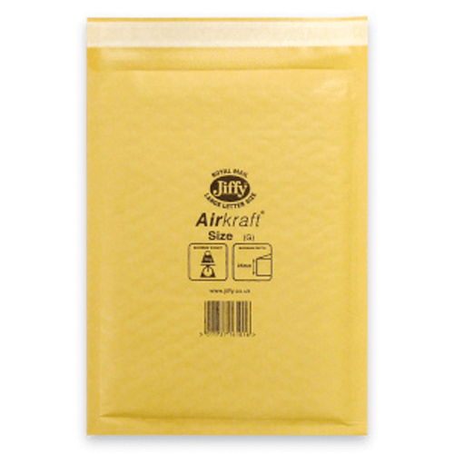 JIFFY AIRKRAFT GOLD 290 x 445mm ENVELOPES (6)