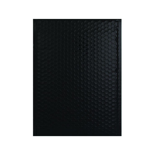 C5 + GLOSS METALLIC BLACK PADDED ENVELOPES (250 x 180MM)