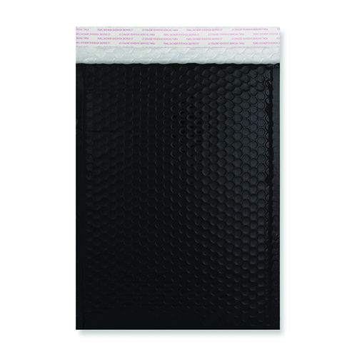 C5 black metallic padded envelopes